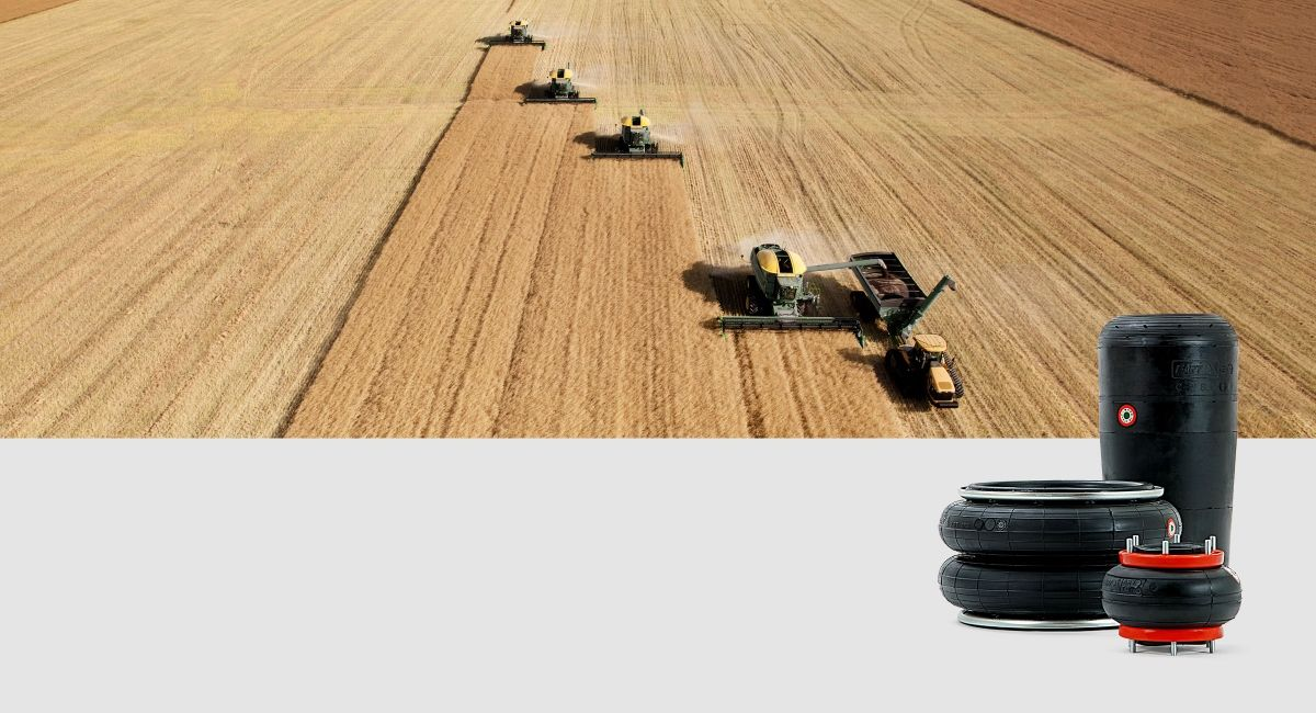 air springs for agriculture vehicles