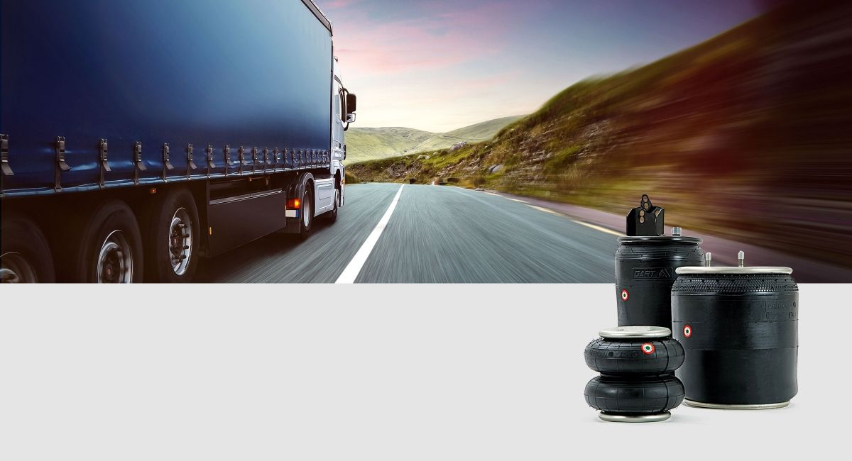 Air springs for industrial and commercial vehicles